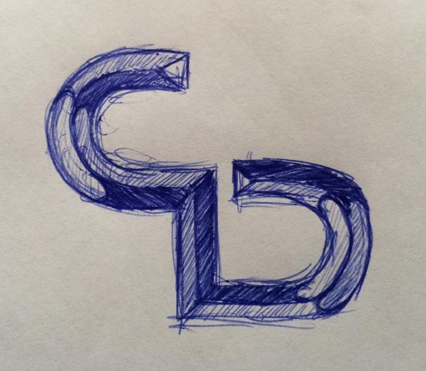 CD logo sketch