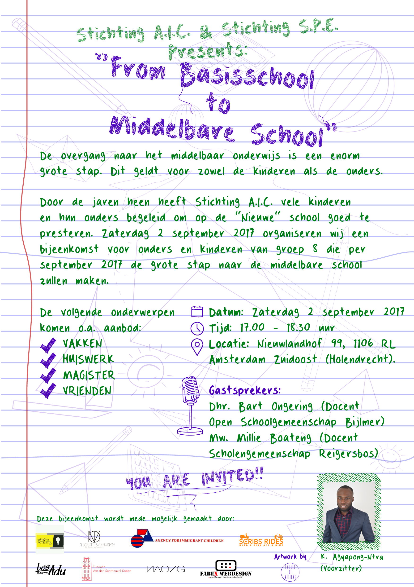From Basis School to Middelbare School 2017